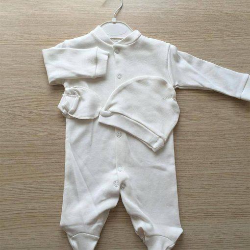 1596787367466232 Bebek Tulum Yuvarlak Şapkalı 0 3 ay Beyaz Krem Pembe Mavi 5 1