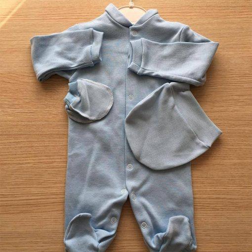 1596787759759252 Bebek Tulum Yuvarlak Şapkalı 3 6 ay Beyaz Krem Pembe Mavi 3 1