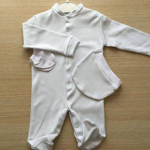 1596787803060253 Bebek Tulum Yuvarlak Şapkalı 3 6 ay Beyaz Krem Pembe Mavi 4 1