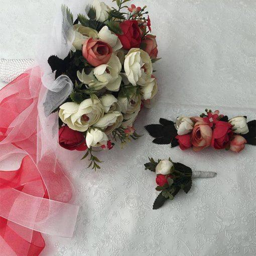 1596852955010227 Gelin Buketi Çiçeği Kırmızı Set 5 1