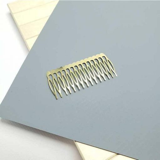 1596971940902887 15 Dişli Metal Tarak Toka Altın