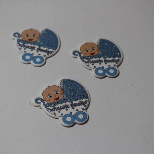 1597055871271455 Karton Sticker Mavi Bebek Arabalı 1 Paket 2 1