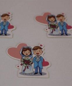 1597054939779265 Karton Gelin Damat Sticker 1 Paket